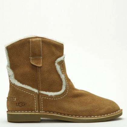 Catica Chestnut Suede Ankle Boots. Free Standard UK Delivery