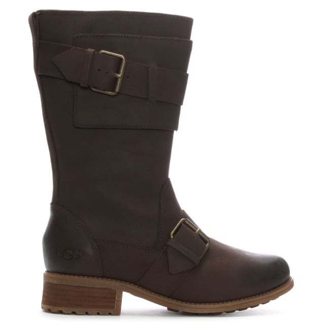 Chancey Stout Leather Calf Biker Boots