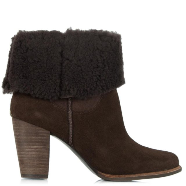 Charlee Chesnut Suede Heeled Ankle Boot