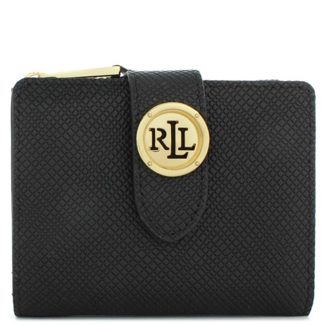 Charleston Compact Black Leather Mini Wallet