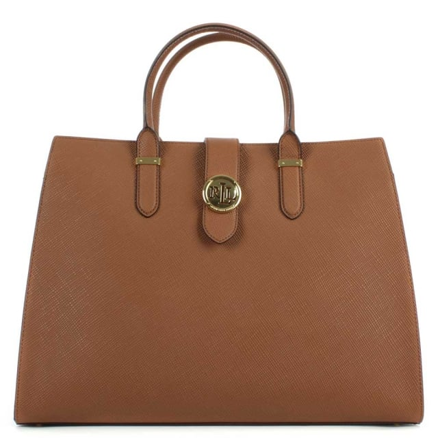 Charleston Saffiano Tan Leather Tote Bag
