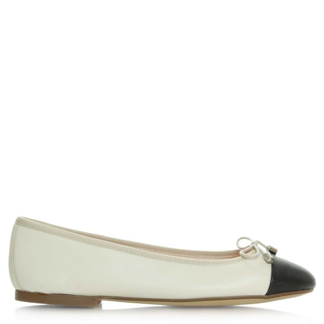 Charlottesville Beige Leather Ballet Pump