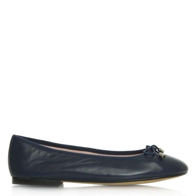 Charlottesville Navy Leather Ballet Pump