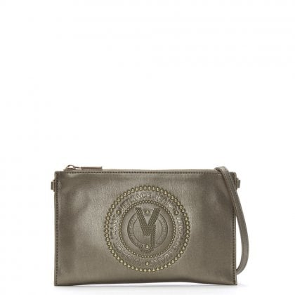 Charm Pewter Embellished Cross-Body Bag