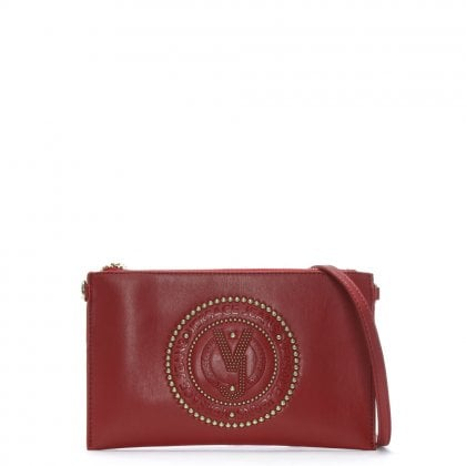Charm Red Embellished Cross-Body Bag
