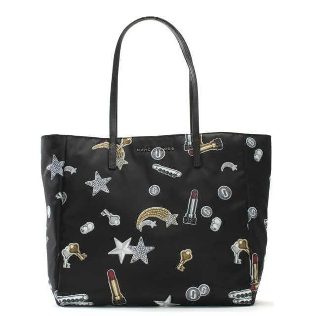 Charms Black Nylon Shopper
