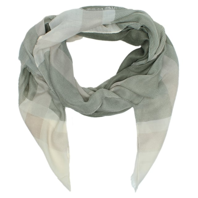 Check Green Cotton Scarf