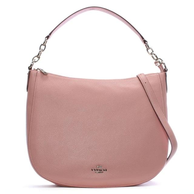 Coach Chelsea 32 Peony Pebbled Leather Hobo Bag