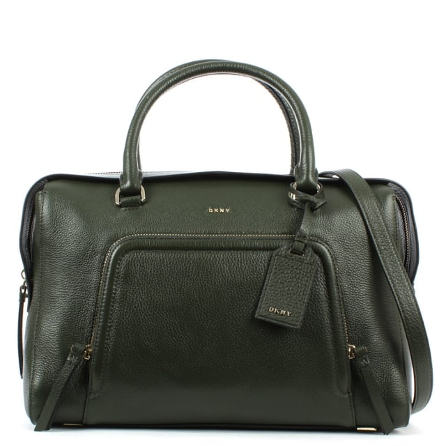 Chelsea Absynth Leather Zipped Large Satchel