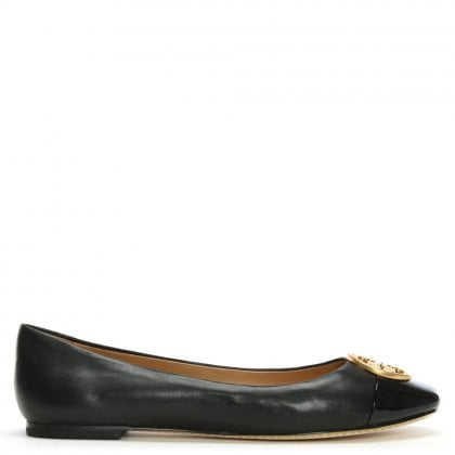 Chelsea Black Leather Ballet Flats