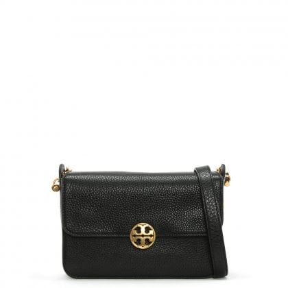 Chelsea Black Leather Cross-Body Bag