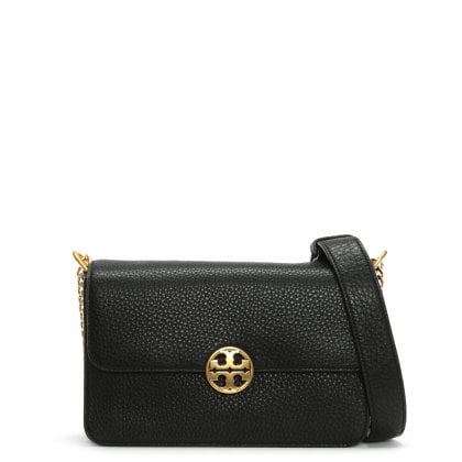 Chelsea Black Leather Shoulder Bag