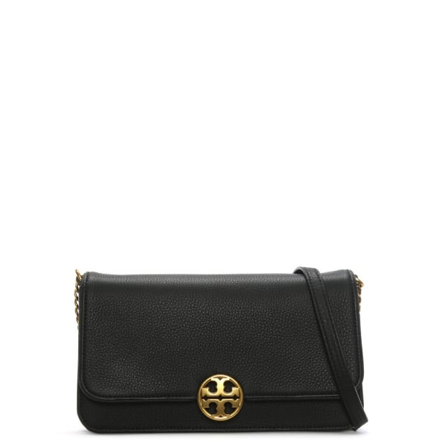 Tory Burch Chelsea Convertible Black Leather Clutch Bag