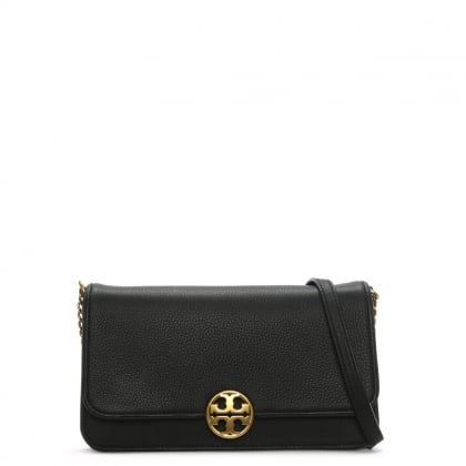 Chelsea Convertible Black Leather Clutch Bag
