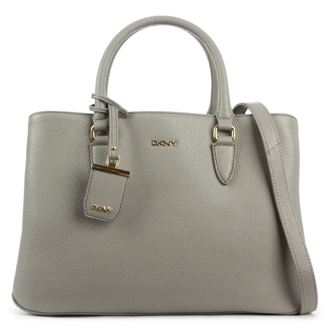 Chelsea Grey Leather Structured Shopper
