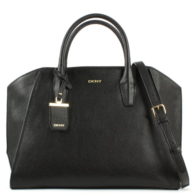 Chelsea Large Black Leather Satchel Bag