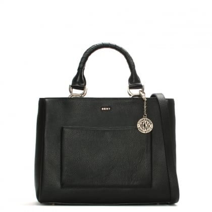 Chelsea Medium Black Pebbled Leather Tote Bag