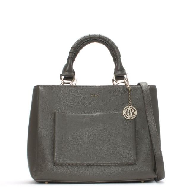 Chelsea Medium Stone Pebbled Leather Tote Bag