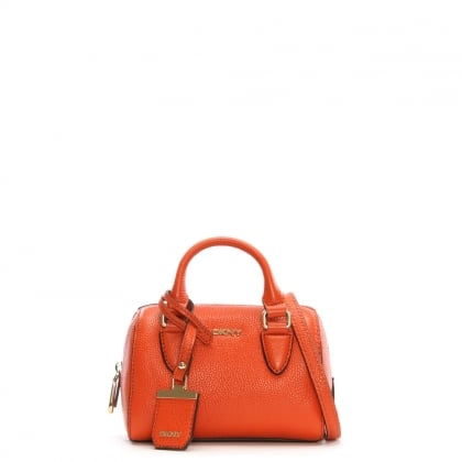 Chelsea Vintage Orange Pebbled Leather Mini Satchel Bag