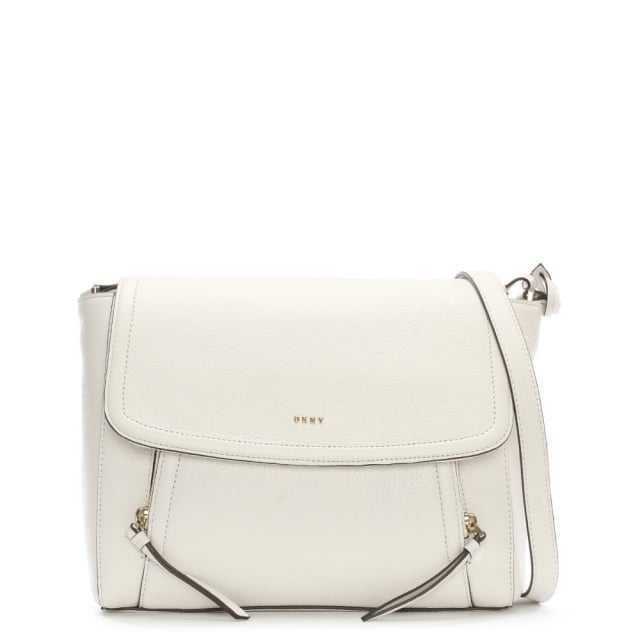 Chelsea Vintage Winter White Leather Messenger Bag