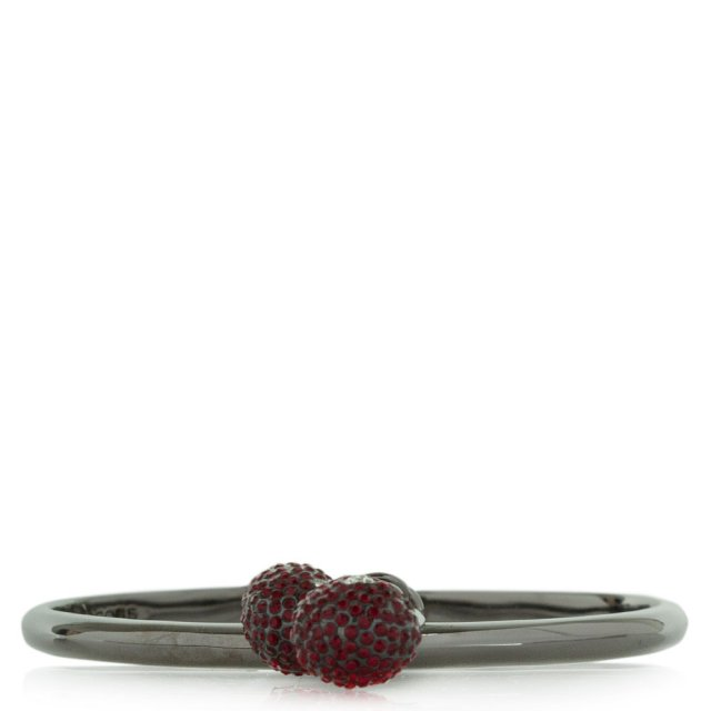 Cherry Pave Charm Red Hinged Cuff