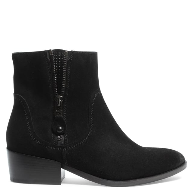 Chesterton Black Suede Studded Gusset Ankle Boot