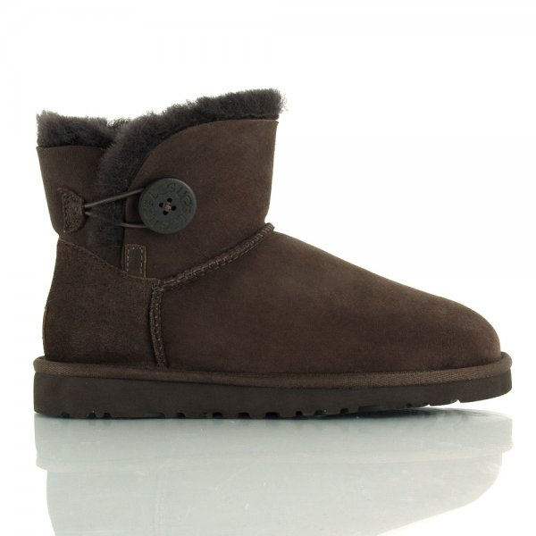 ugg womens mini bailey button boots chocolate