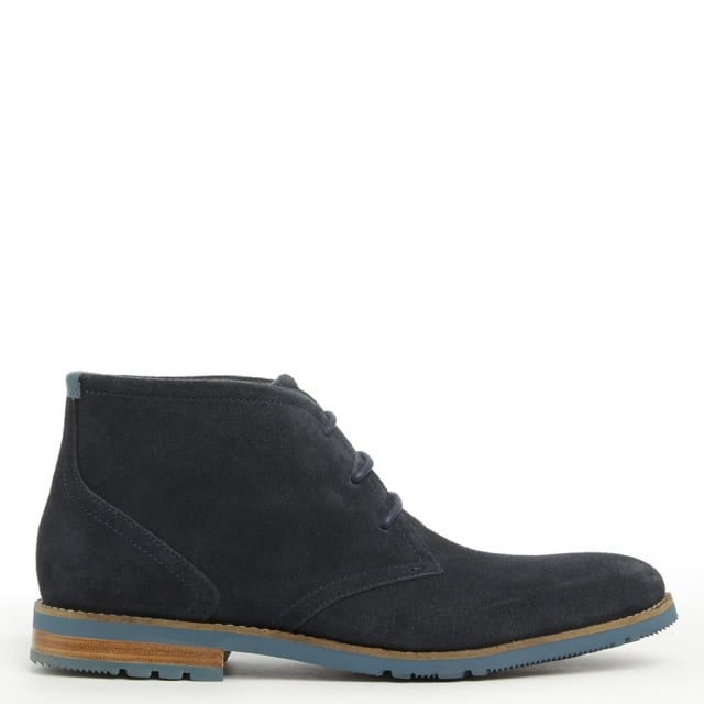 Chukka Navy Suede Lace Up Desert Boot