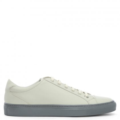 Alpha Grey Leather Lace Up Trainers