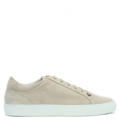 Alpha Lux Taupe Suede Lace Up Trainers