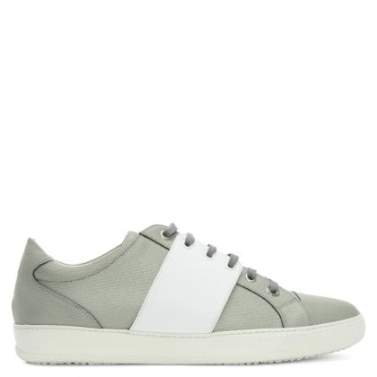 Sub Terranian Grey Suede Lace Up Trainers