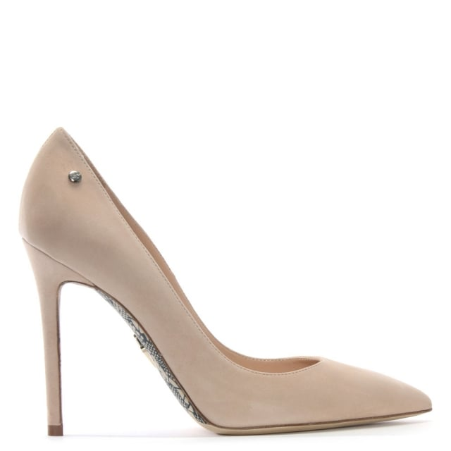 Classic Beige Suede Court Shoes