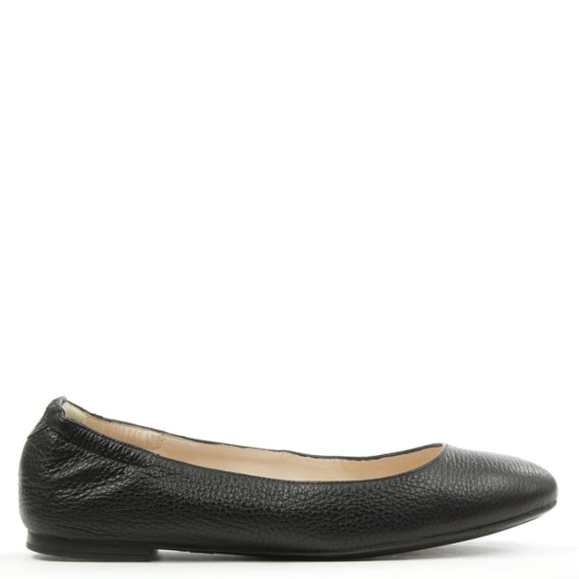 Classic Black Leather Ballerina Flat