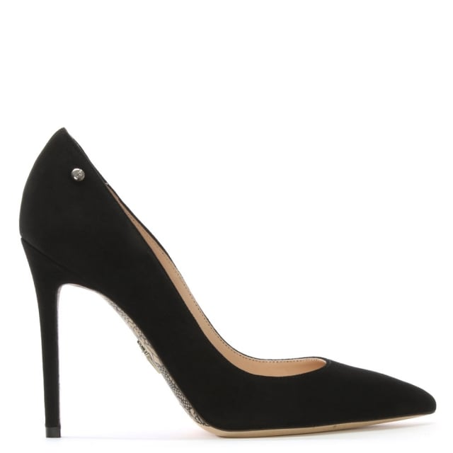 Classic Black Suede Court Shoes