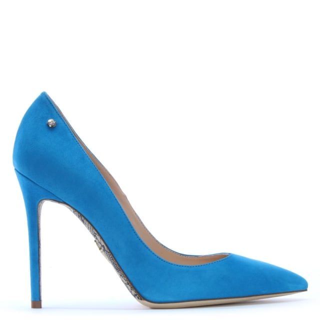Classic Blue Suede Court Shoes