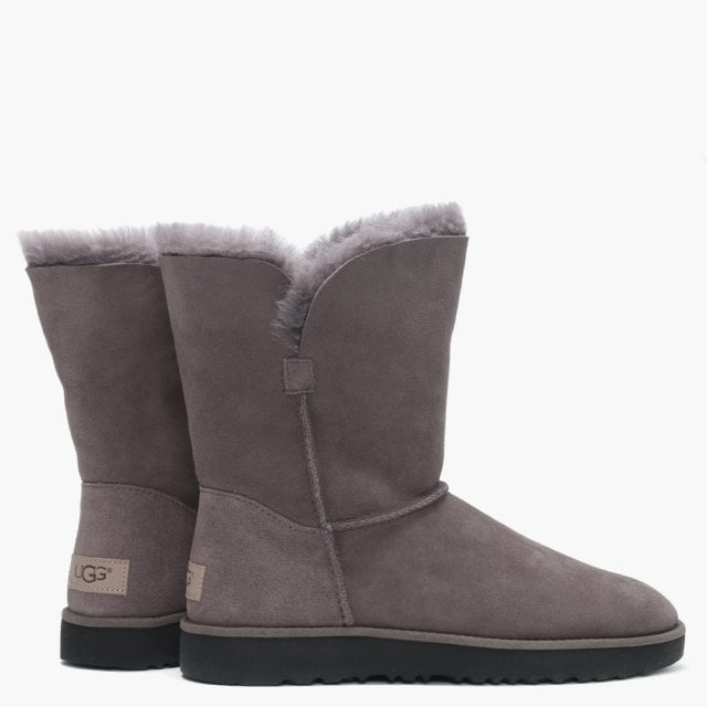 Classic Cuff Short Stormy Grey Ankle Boots