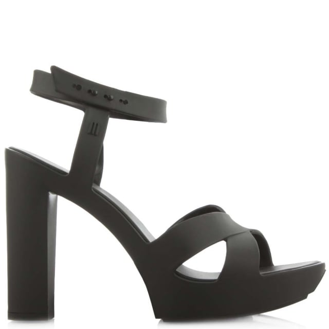 bec05e8bb9b Melissa Classic Lady Black Block Heel Sandal
