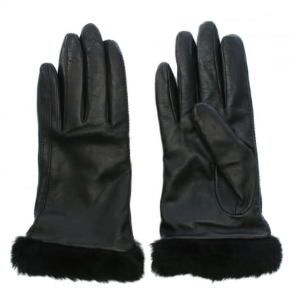 Classic Leather Smart Black Women's Touchscreen Glove