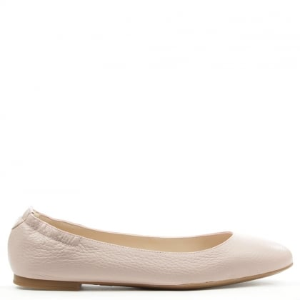 Classic Pink Leather Ballerina Flat