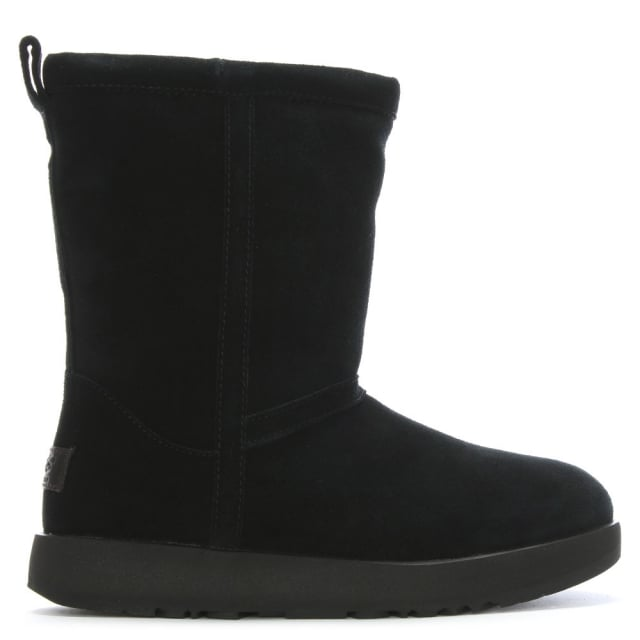 63960b7fd99 Classic Short Black Suede Waterproof Ankle Boots