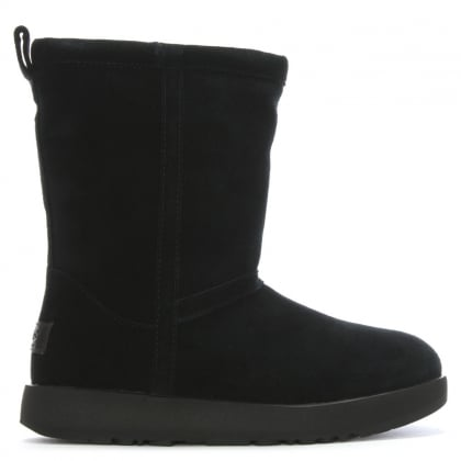 Classic Short Black Suede Waterproof Ankle Boots