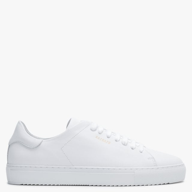 Clean 90 White Leather Low Top Trainers