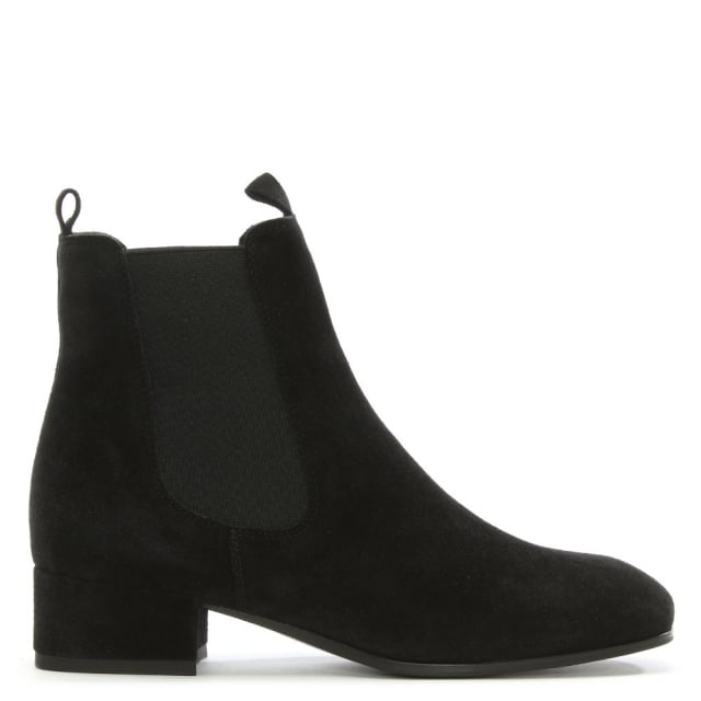 Cleary Black Suede Chelsea Boot