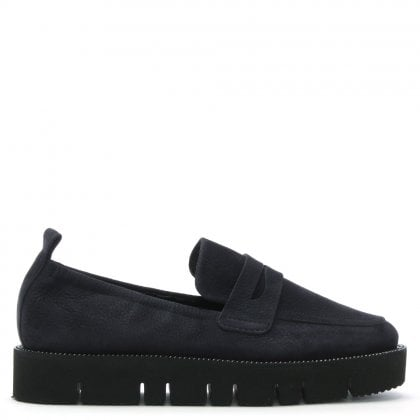 Cleasdon Navy Suede Cleated Loafers
