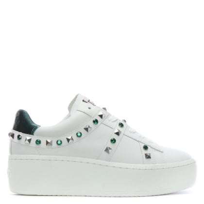 Clone Emerald & White Leather Chunky Sneakers