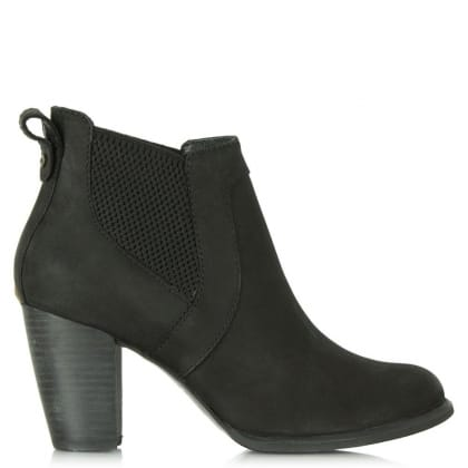 Cobie Black Leather Nubuck Chelsea Boot
