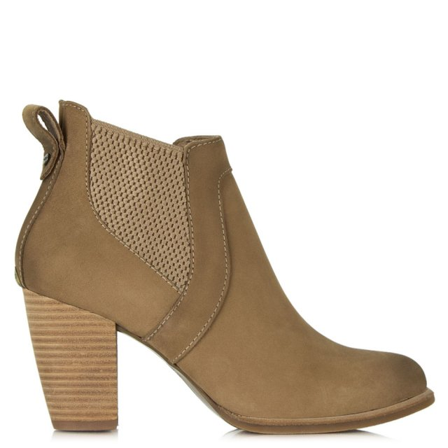 Cobie Fawn Leather Nubuck Chelsea Boot