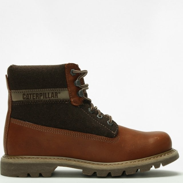 16582a5406a Colorado Wool Brown Leather Work Boots