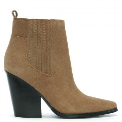 Colt Tan Suede Western Ankle Boots