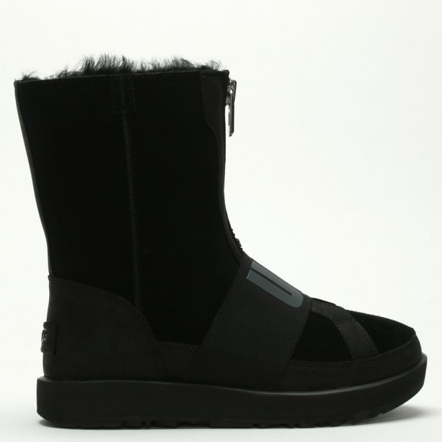 40a41823133 Conness Waterproof Black Suede Logo Ankle Boots